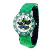 Marvel® Hulk Kids Green Nylon Strap Watch