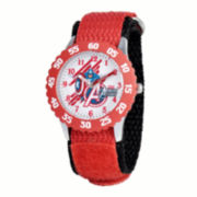Marvel® Captain America Kids Red Nylon Strap Watch