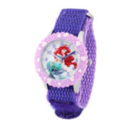 Disney Ariel Kids Purple Nylon Strap Watch