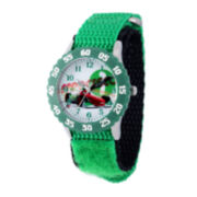 Disney Cars Kids Green Nylon Strap Watch