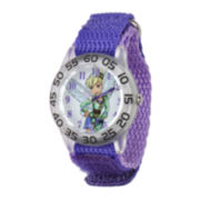 Disney Tinker Bell  Kids Purple Nylon Strap Watch
