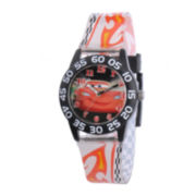 Disney Lightning McQueen Cars Kids Multicolor Plastic Strap Watch