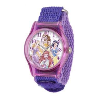 jcpenney.com | Disney Princess Kids Purple Nylon Strap Watch