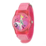 Disney Tinker Bell Kids Pink Nylon Strap Watch