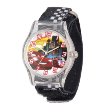 jcpenney.com | Disney Cars ids Black and White Nylon Strap Watch