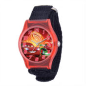 Disney Cars Kids Black Nylon Strap Watch