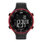Skechers® Performance Mens 50-Lap Black Strap Chronograph Digital Sport Watch