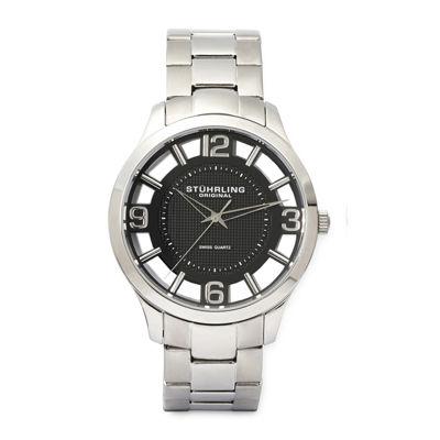Stührling® Original Mens Stainless Steel Spoke-Style Watch 8123.04