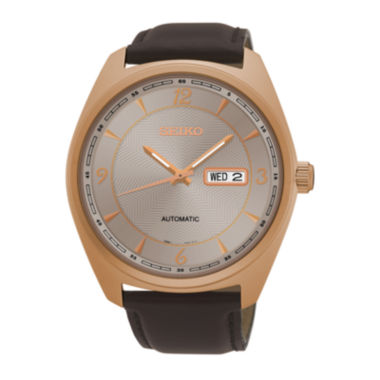 jcpenney.com | Seiko® Mens Brown Strap Watch SNKN72