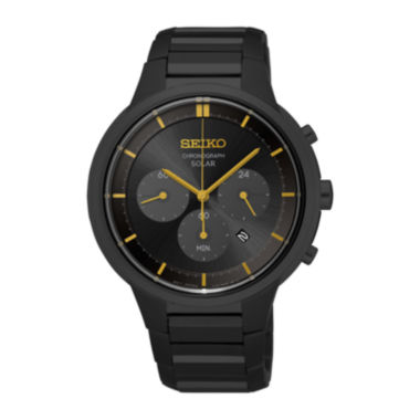 jcpenney.com | Seiko® Mens Black Chronograph Bracelet Watch SSC441