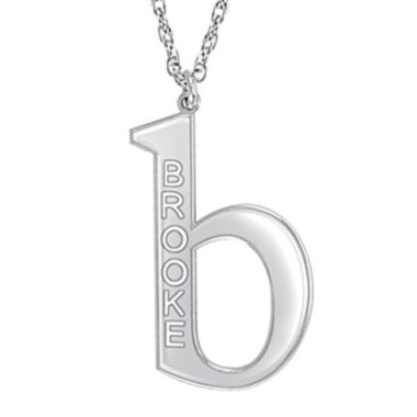 jcpenney.com | Personalized 28mm Initial Pendant Necklace