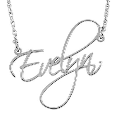 Personalized 27mm cursive name pendant necklace jcpenney personalized 27mm cursive name pendant necklace aloadofball Images