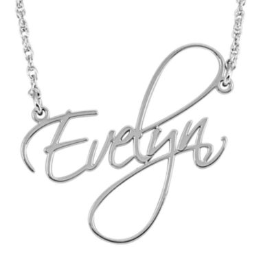 jcpenney.com | Personalized 27mm Cursive Name Pendant Necklace
