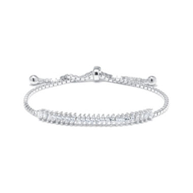 jcpenney.com | Marquise-Cut Cubic Zirconia Sterling Silver Tennis Slider Bracelet