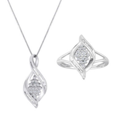 jcpenney.com | Diamond Blossom 1/5 CT. T.W. Diamond Sterling Silver Jewelry