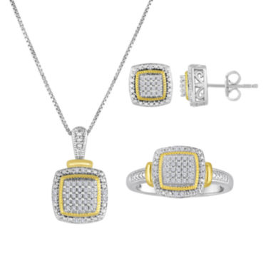 jcpenney.com | 1/10 CT. T.W. Diamond Accent Two-Tone Frame Jewelry