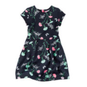 Carter's® Short-Sleeve Floral-Print Dress - Toddler Girls 2t-5t