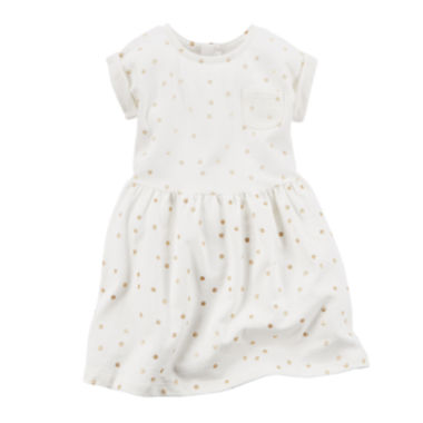 jcpenney.com | Carter's® Short-Sleeve Dot Dress - Toddler Girls 2t-5t
