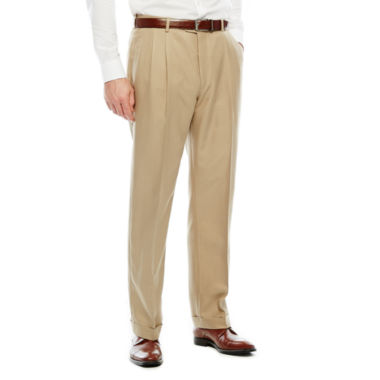 jcpenney.com | Stafford Pleated Microfiber Pant