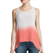 by&by Dip-Dye Crochet Trim Tank Top