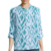 a.n.a® 3/4-Sleeve Popover Woven Blouse