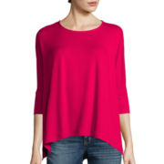 a.n.a® Long-Sleeve Drapey Poncho Top - Tall