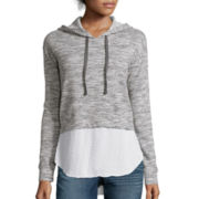 a.n.a® Long-Sleeve Layered-Look Hoodie Sweatshirt- Petite