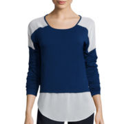 a.n.a® Long-Sleeve Colorblock Layered-Look T-Shirt