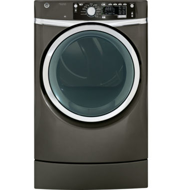 jcpenney.com | GE® 8.3 cu. ft. Capacity RightHeight™ Design Front Load Electric Dryer with Steam