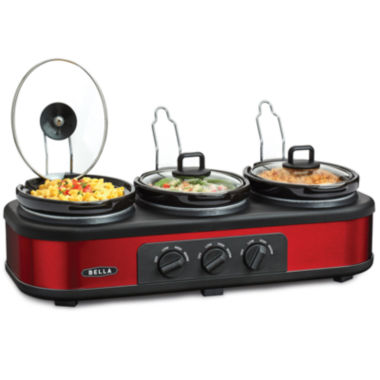 jcpenney.com | Bella™ 3x1.5-qt. Triple Slow Cooker with Lid Rests