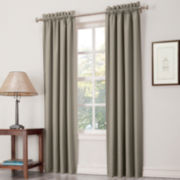 Sun Zero™ Heath Room-Darkening Rod-Pocket Curtain Panel