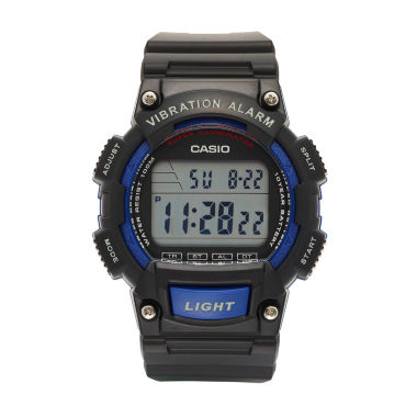 jcpenney.com | Casio Table Mens Black Strap Watch-W736h-1av