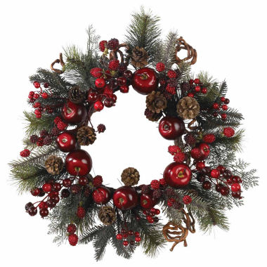 "jcpenney.com | 22"" Indoor/Outdoor Christmas Apple Berry Wreath"
