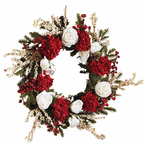 Nearly Natural Indoor/Outdoor Christmas Wreath