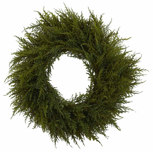 Indoor/Outdoor 24 In Cedar Wreath