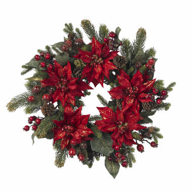 "jcpenney.com | 24"" Indoor/Outdoor Christmas Wreath"