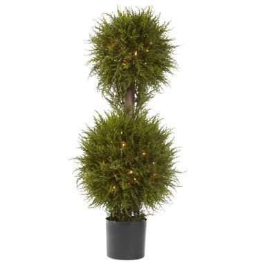"jcpenney.com | 40"" Christmas Tree Cedar Double Ball Topiary"