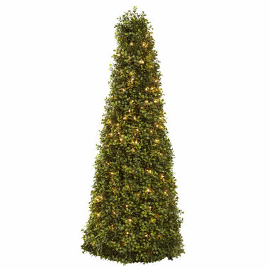 "jcpenney.com | 39"" Christmas Tree Boxwood Cone With Lights"