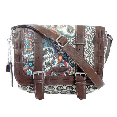 jcpenney.com | Union Bay Paisley Owl Messenger Bag