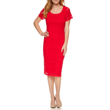 jcpenney.com | Ronni Nicole Short Sleeve Lace Sheath Dress