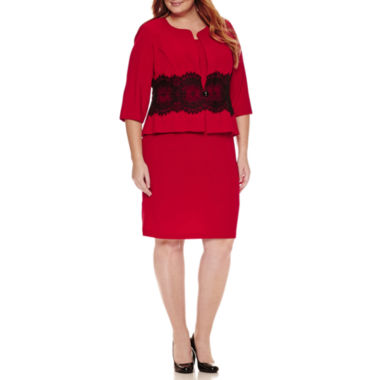 jcpenney.com | Danny & Nicole 3/4 Sleeve Lace Jacket Dress-Plus