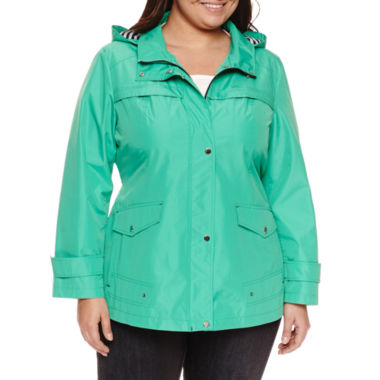 jcpenney.com | Details Hooded Anorak Raincoat - Plus