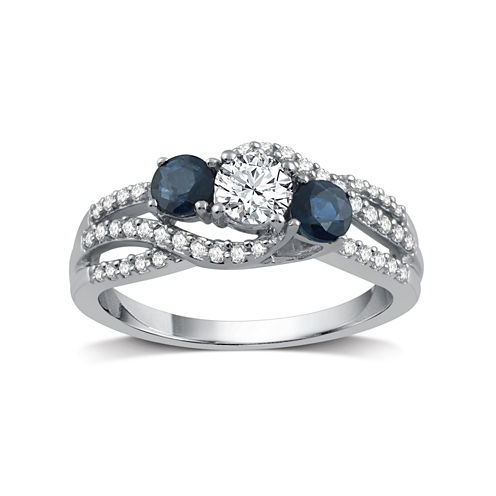 I Said Yes Womens 5/8 CT. T.W. White Diamond Platinaire Engagement Ring