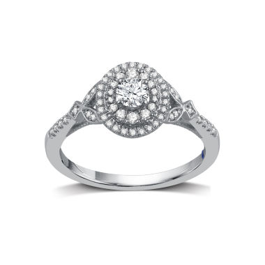 jcpenney.com | I Said Yes Womens 1/2 CT. T.W. White Diamond Platinaire Engagement Ring