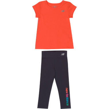 jcpenney.com | New Balance Girls 2-pc. Short Sleeve Pant Set-Baby