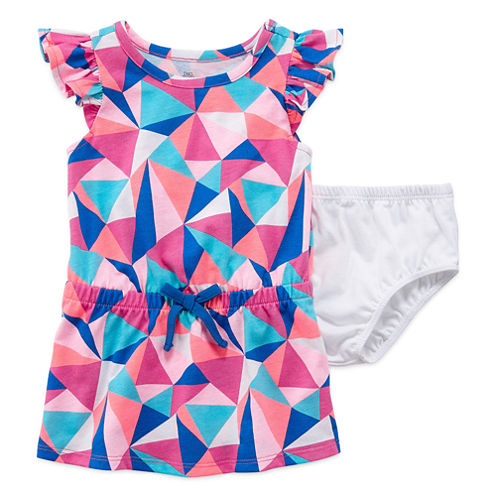 Okie Dokie Sleeveless Cap Sleeve Sundress - Baby Girls
