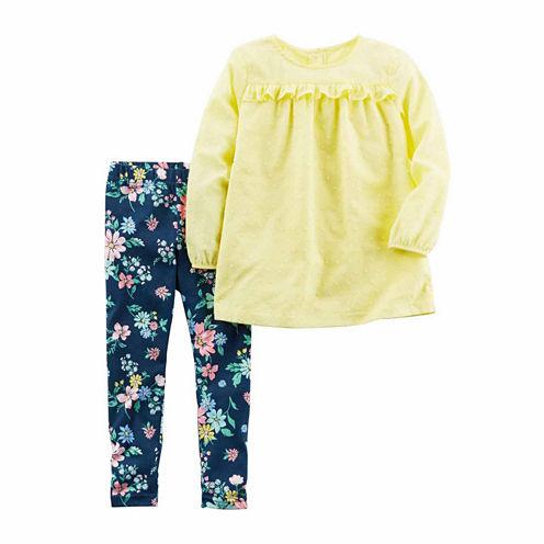 Carter'S Girls 2-Pc. Short Sleeve Pant Set-Baby