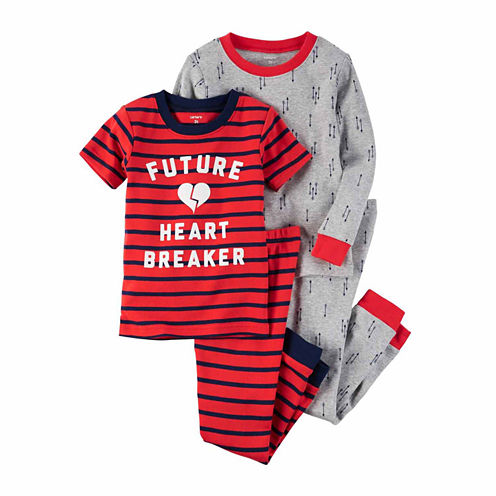 Carter'S Girl 4Pc Future Heart Breaker Pajama Set