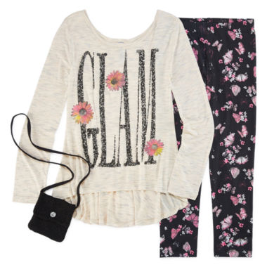 jcpenney.com | Knit Works Legging Set with High Low Stud Top and Purse - Girls 7-16 and Plus