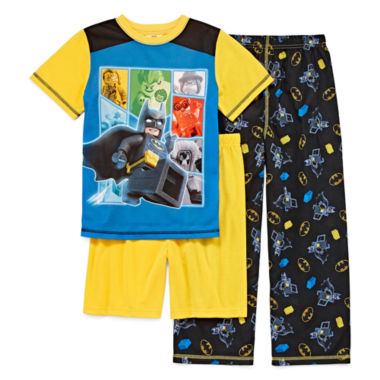 jcpenney.com | Boys 3-pc. Short Sleeve Batman Kids Pajama Set-Big Kid